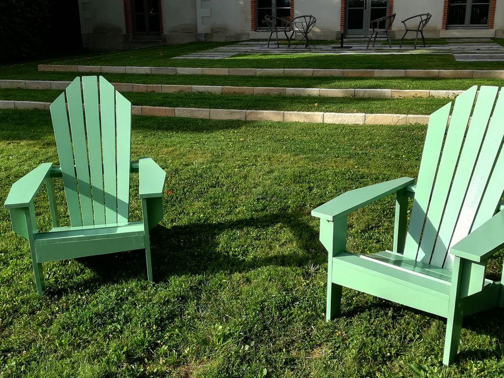 04 paire de fauteuils graphic col vert