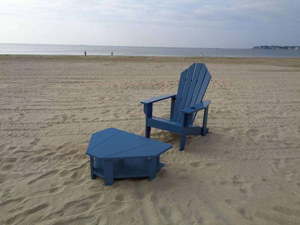06 fauteuil table basse graphic sur plage