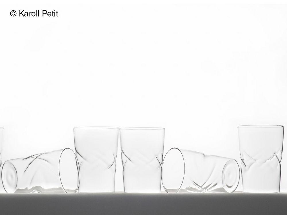 12 verres froisses verre et design