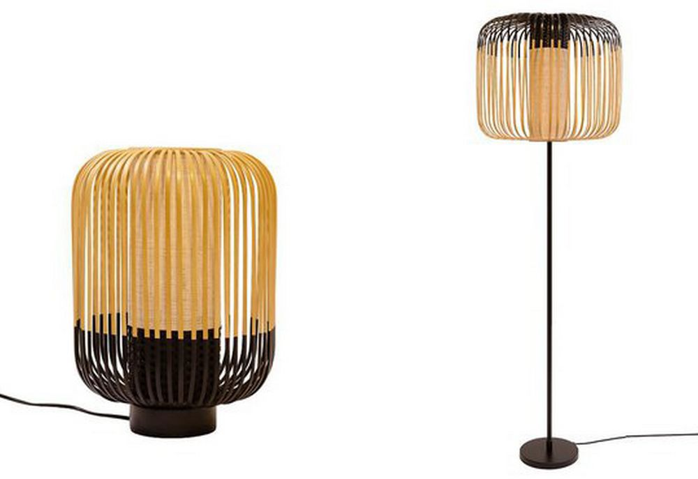 13 luminaires bamboo forestier