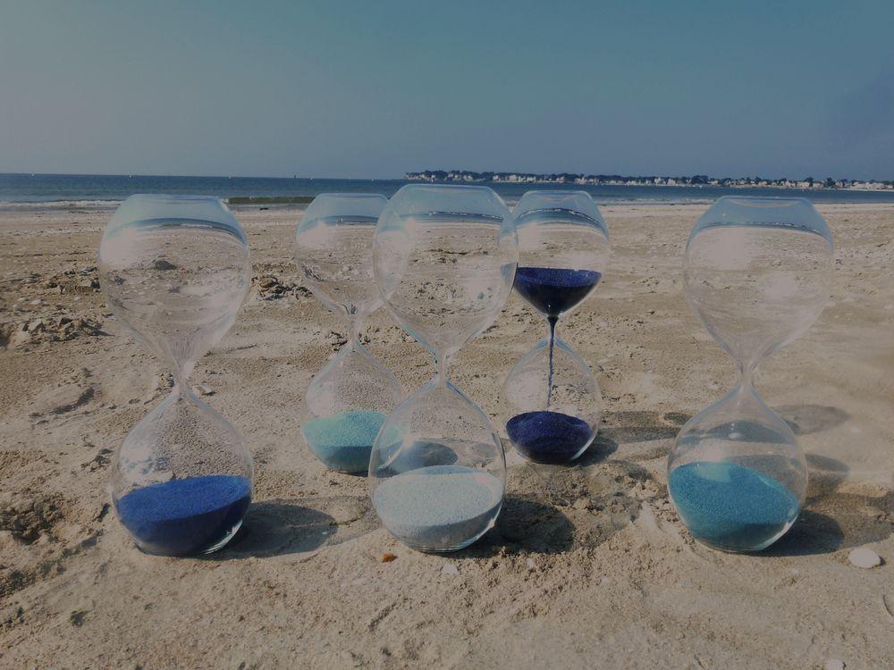 15 sabliers plage la baule verre et design